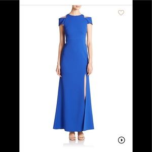 ABS cutout cold shoulder gown NWT
